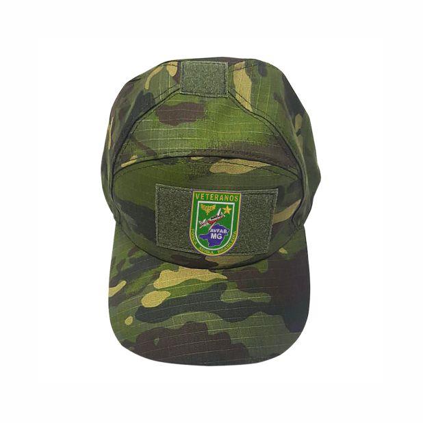 Boné reforçado Camuflado com Brazão AVFAB-MG